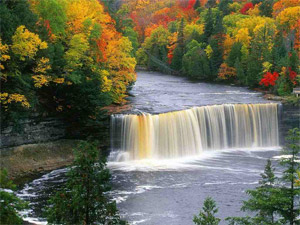 waterfall - Michigan