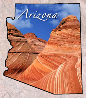 Arizona Fun Facts State Symbols Photos Visitor Info - Us state facts map and state symbols
